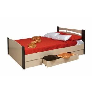 Кровать шириной 1200 с ящиком венге
