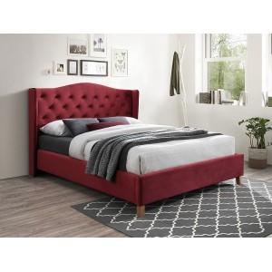 Кровать Signal Aspen Velvet 160 бордовый