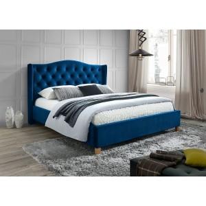 Кровать Signal Aspen Velvet 160 темно-синий