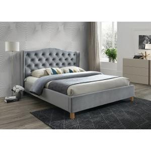 Кровать Signal Aspen Velvet BLUVEL 14 серый/дуб 180
